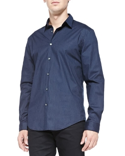 John Varvatos Star USA - Pinstriped Poplin Shirt