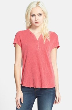Stateside - Notch Neck Henley Shirt