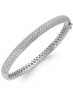 Arabella - Swarovski Zirconia Pave Bangle Bracelet