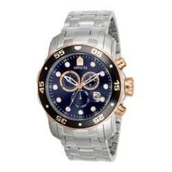 Invicta - Stainless Steel Chronograph Scuba Sport Watch