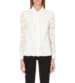 The White Company  - Collar-Detail Floral-Lace Blouse
