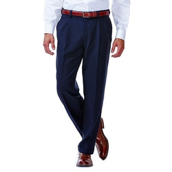 Haggar - Classic-Fit Pleated Comfort Waist Dress Pants