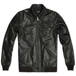 A.P.C. x Carhartt  - Detroit Black Leather Jacket