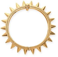 Alexander McQueen - Spiked Yellow Gold Hinge Bracelet