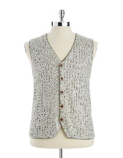Lord and Taylor - BLACK BROWN 1826 Knit Button-Down Vest
