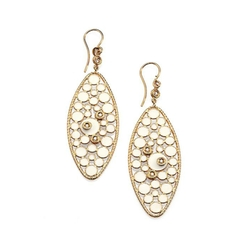 Roberto Coin - Bollicine Diamond Oval Drop Earrings