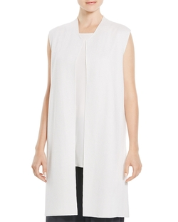 Eileen Fisher - Silk Cotton Long Vest