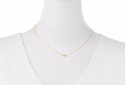 SHY by SE  - Bee Bezel-Diamond Pendant Necklace