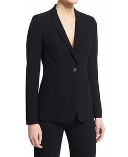 Elie Tahari - Wendy Crepe One-Button Jacket