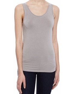 Neiman Marcus - Soft Touch Scoop-Neck Tank