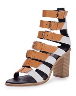 Balenciaga   - Buckled Leather Gladiator Sandals