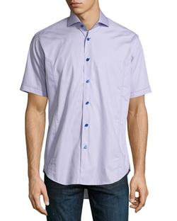 Bogosse  - Short-Sleeve End-on-End Sport Shirt