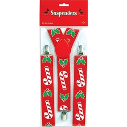 Beistle Company  - Candy Cane & Holly Suspenders