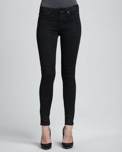 D-ID Denim - Sturgis Lustered Quilted-Knee Skinny Jeans