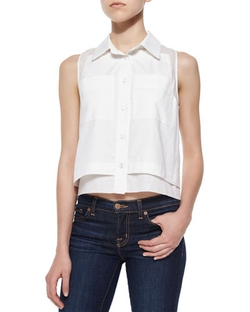 Parker	  - Norway Sleeveless Combo Blouse