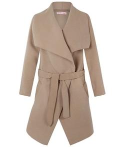Krisp - Woolen Cape Blanket Coat