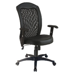 Office Star  - Mesh/Leather Task Chair