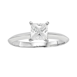 Diamonore - Princess-Cut Simulated Diamond Solitaire Engagement Ring