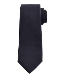 KitonSolid Woven 15-Micron Tie, Navy - Solid Woven Micron Tie