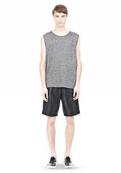 Alexander Wang - Heather Linen Muscle Tank