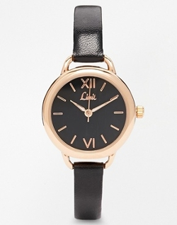 Asos - Limit Black Face Black Strap Watch