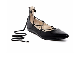 Calvin Klein  - Harlin Pointed Toe Lace-Up Flats