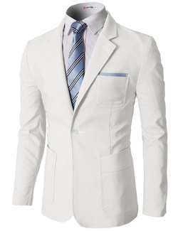 H2H  - Pastel Color Slim Fit Blazer