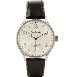 PAUL SMITH SHOES & ACCESSORIES   - CITY CLASSIC LEATHER-STRAP WATCH
