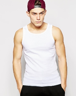 Asos - Solid Ribbed Tank Top