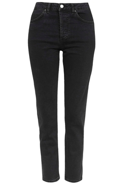 Topshop - Washed Black Girlfriend Jeans