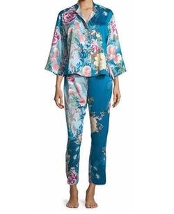 Natori - Serene Floral-Print Pajama Set