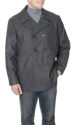 Calvin Klein - Wool Blend Double Breasted Peacoat