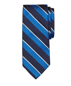 Brooks Brothers - Mixed Weave Sidewheeler Stripe Tie