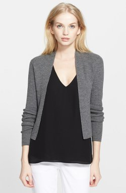 Theory  - Ganes B Crop Open Cardigan