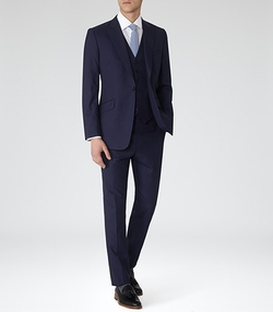 Reiss - Garda Peak Lapel Three Piece Suit
