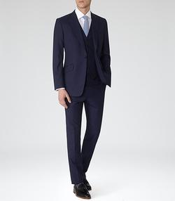 Reiss - Garda Peak Lapel Three Piece Suit