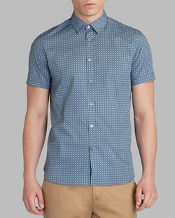 Ted Baker  - Breath Circle Print Button Down Shirt