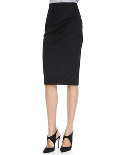Armani Collezioni - Side-Drape Pencil Skirt