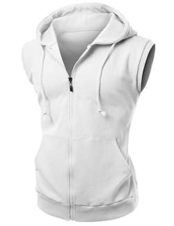 Xpril - Cotton Zip Up Hoodie Vest