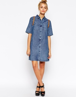 Asos Collection - Denim Shirt Dress