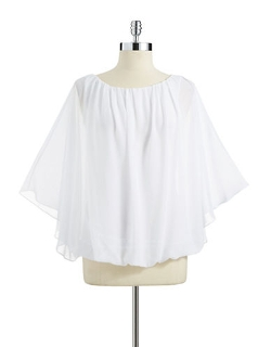 T. Tahari  - Scoop Neckline Destiny Blouse