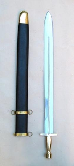 Brescia  - War Sword Opulent Replica With Matching Scabbard