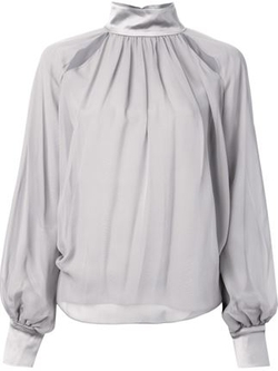 Prabal Gurung - Contrasting Gather Detail Blouse