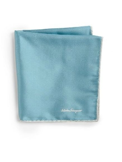 Salvatore Ferragamo  - Silk Twill Pocket Square