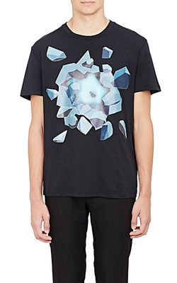 Christopher Kane - Ice-Explosion-Graphic T-Shirt