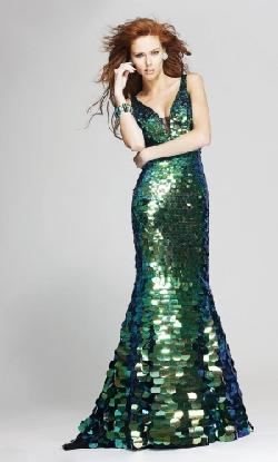Dress Mini - Natural Sequins Emerald Evening Dress