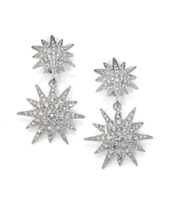 Kenneth Jay Lane - Double Star Drop Earrings