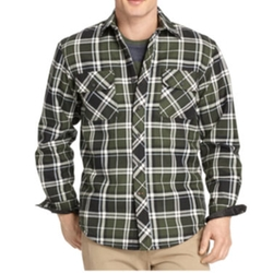 Izod - Heavy Twill Sherpa Shirt Jacket