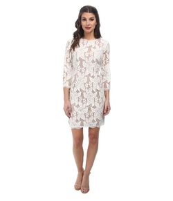 Adrianna Papell - Quarter Sleeved Cocktail Dress
