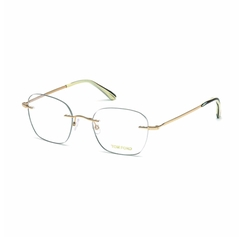 Tom Ford  - Shiny Metal Wood Effect Eyeglasses